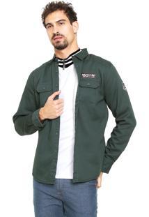 Camisa Gangster Reta Verde
