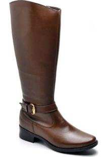 Bota Top Franca Shoes Country Feminino. - Feminino-Caramelo