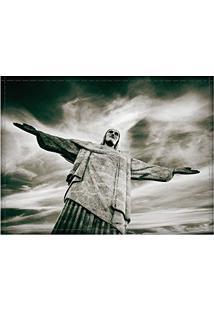 Jogo Americano Decorativo, Criativo E Descolado   Cristo Redentor No Rio De Janeiro, Rj - Tamanho 30 X 40 Cm