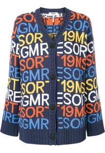 Msgm Resort 19 Cardigan - Azul