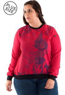 Blusão Moletom Konciny Plus Size Pink