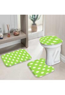 Jogo Tapetes Para Banheiro Ovos De Páscoa Verde