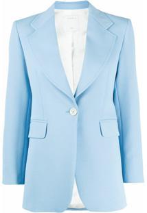 Sandro Paris Blazer Cely Com Abotoamento Simples - Azul