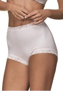 Calcinha Calça Clássica Secret Demillus 57001 Branco