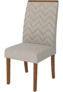 Cadeira Áurea 2 Peças - Rústico Terrara Com Pena Bege