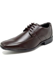 Sapato Social Fiveblu Liso Marrom
