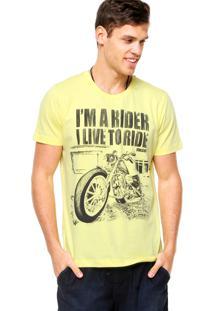 Camiseta Manga Curta Colcci Rider Amarela