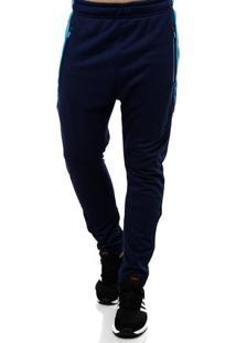 Calça De Tecido Masculina Azul