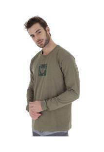 Camiseta Manga Longa Hang Loose Logarmy - Masculina - Verde