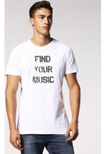 Camiseta Diesel T-Diego-Rn Masculina - Masculino-Branco