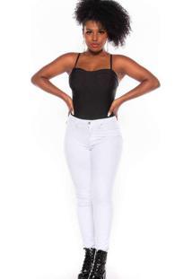 Calça Cigarrete Almaria Plus Size Shyros Jeans Bra