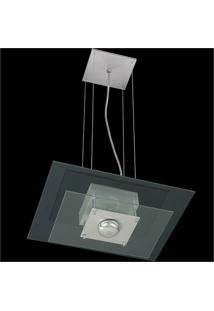 Pendente Retangular Para 1 Lâmpada Spacial Transparente