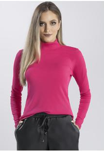 Blusa Gola Alta Em Ribana Pink