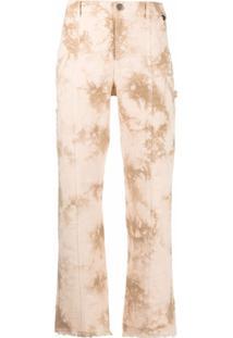 Twinset Calça Jeans Com Efeito Manchado - Neutro