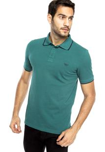 Camisa Polo M. Officer Bordado Verde