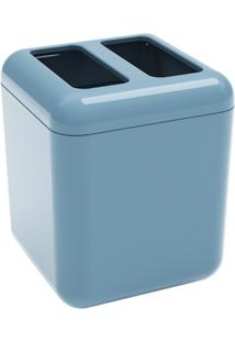 Porta Escova Cube 10,5X8,5Cm Azul Fog