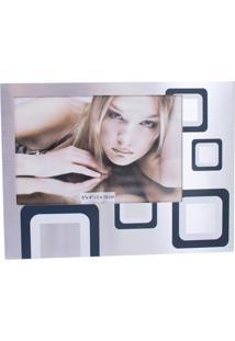 Porta Retrato Minas De Presentes De Alumínio 10X15Cm Horizontal Prata - Kanui