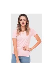 T-Shirt Saint Cropped Estonada Rosa