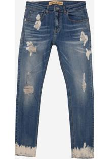 Calça John John Skinny Maui 3D Jeans Azul Masculina (Jeans Medio, 42)