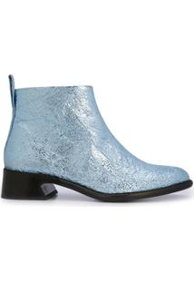 Sies Marjan Crinkle Ankle Boots - Azul
