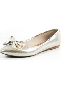 Sapatilha Tag Shoes Metalizada Dourado - Dourado - Feminino - Dafiti