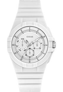 Relógio Guess Masculino Borracha Branca - W0942L1