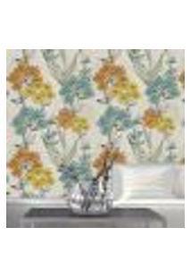 Papel De Parede Autocolante Rolo 0,58 X 3M - Floral 212808019