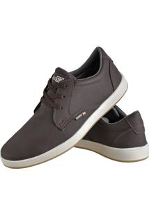 Sapatênis Sapato Casual Cr Shoes Com Cadarço Masculino 1510L Cafe Marrom