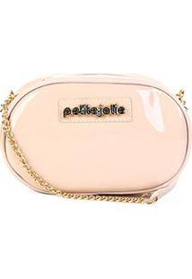 Bolsa Petite Jolie Transversal Rebel Bag Verniz - Feminino-Nude