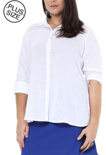 Camisa Energia Plus Com Recortes Branco