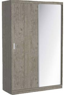 Guarda Roupa 02 Portas De Correr C/ 1 Espelho 797E1 Demolição M Foscarini Cinza
