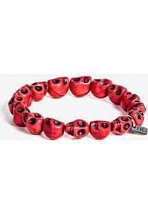 Pulseira Red Skull 100152-Vermelho-Único