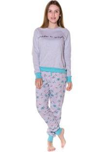 Pijama Feminino Adulto Moletinho Desejo