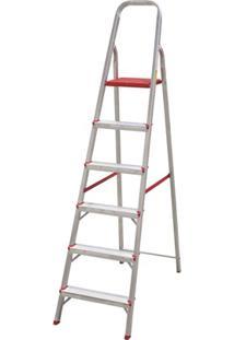 Escada Em Alumínio Com 6 Degraus