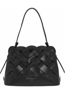 Prada Shopping Bag Trançada - Preto