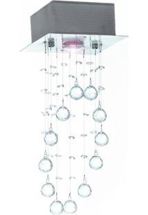 Lustre Luminária Plafon Hydra Açocromo