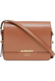 Burberry Bolsa Transversal Grace Pequena - Marrom
