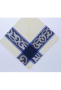 Kit De 4 Pc. Guardanapo Lisboa 47X47 Cm 100%Algodã£O Importado De Portugal - Azul/Bege - Feminino - Dafiti