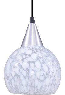 Pendente De Vidro Redondo Para 1 Lâmpada Rovigo Liso Transparente E Leitoso E27 Taschibra Transparente