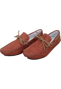 Mocassim Navit Shoes Driver Caramelo