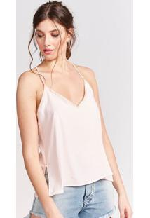 Blusa Lisa Com Fendas - Off Whitepop Up