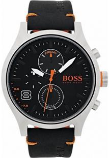 Relógio Hugo Boss Masculino Couro Preto - 1550020