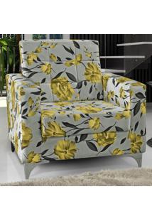 Poltrona Thainá 00199.0419 Floral Amarelo - Matrix