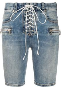 Unravel Project Bermuda Jeans Skinny - Azul