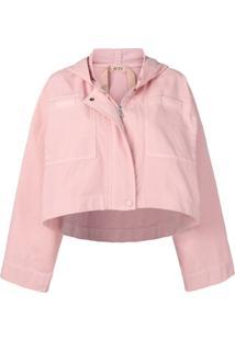 Nº21 Cropped Hooded Jacket - Rosa