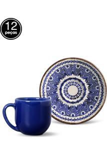 Conjunto 12Pçs Xícaras De Café Coup Inca Porto Brasil