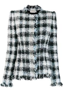 Alexander Mcqueen Boucle Fitted Jacket - Branco
