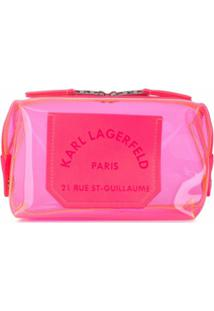 Karl Lagerfeld Nécessaire K/Journey Transparente - Rosa