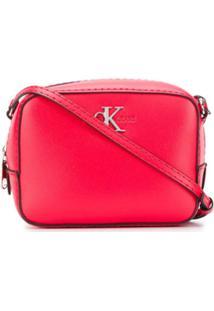 Calvin Klein Bolsa Transversal Com Logo - Vermelho