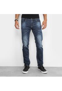 Calça Jeans Skinny Sawary Elastano Masculina - Masculino-Jeans